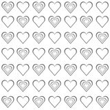 Valentine grey hearts on white background. Vector illustration EPS10 Royalty Free Stock Images