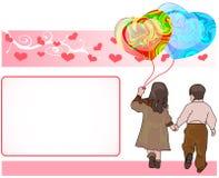 Valentine- groetkaart Royalty-vrije Stock Foto