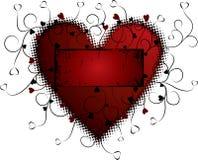 Valentine grunge background, heart, vector. Illustration Stock Images