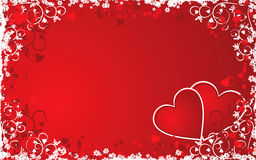 Valentine grunge background, vector Stock Images