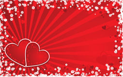 Valentine grunge background, vector Royalty Free Stock Images