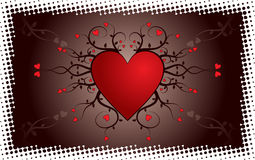 Valentine grunge background, vector Stock Photos