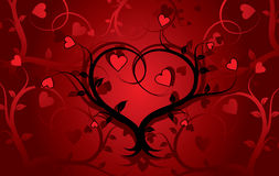 Valentine grunge background, vector Stock Photo