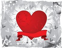 Valentine grunge background, vector royalty free stock photo