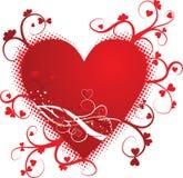 Valentine grunge background, vector illustration Royalty Free Stock Photos