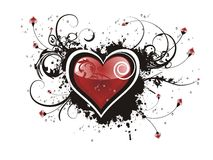 Valentine Grunge Heart Floral Royalty Free Stock Image