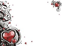 Valentine grunge heart floral Royalty Free Stock Images