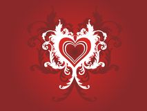 Valentine grunge heart floral Royalty Free Stock Photos