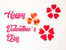 Желейные бобы сердца Сан Valentineв круге, круге gummies сердца стоковая фотография