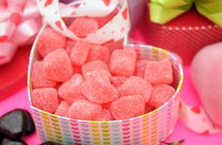 Valentine gummy candy Royalty Free Stock Photos