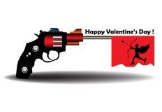 Valentine gun Stock Image
