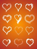 Valentine hand fresh hearts Stock Photography