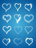 Valentine hand hearts Royalty Free Stock Image