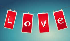 Valentine hanging labels. Royalty Free Stock Images