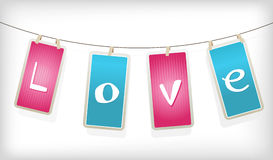 Valentine hanging labels. Royalty Free Stock Photos