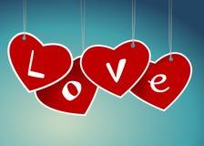 Valentine hanging labels. Stock Image