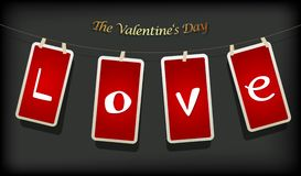 Valentine hanging labels. Royalty Free Stock Photo