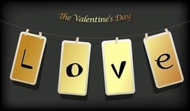 Valentine hanging labels. Royalty Free Stock Image