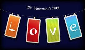 Valentine hanging labels. Stock Images