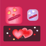 Valentine happy love card in vector. Happy love card in vector Royalty Free Stock Photography