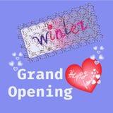 Valentine happy love card in vector. Love winter happy valentine background in vector Stock Photography
