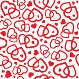 Valentine-harten naadloze vector als achtergrond Royalty-vrije Stock Foto