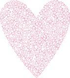 Valentine-hartenachtergrond vector illustratie