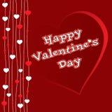 Valentine-hartkaart Stock Fotografie