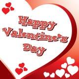 Valentine-hartkaart Royalty-vrije Stock Afbeeldingen