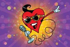 Valentine-hartzanger in de Elvis-stijl stock illustratie