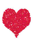 Valentine heart. Computer generated rose petal heart Stock Photo