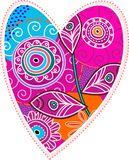 Valentine heart. Funny colored valentin heart with rich abstract motive Royalty Free Stock Image