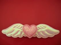 Valentine heart. Pink heart shape for valentine's day Royalty Free Stock Photos