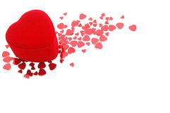 Valentine heart. Red heart shape gift box for valentine's day Stock Photo