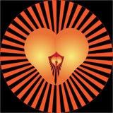 Valentine heart Stock Image