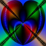 Valentine Heart. Hearts in jewel toned colors Stock Photos
