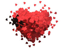Valentine heart. Red heart shape for valentine's day Stock Images