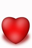 Valentine Heart. Heart isolated  on the white background Royalty Free Stock Photos