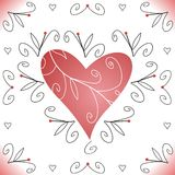 Valentine heart. Illustration of red valentine heart Vector Illustration