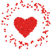 Valentine heart. With red confetti Royalty Free Stock Photos