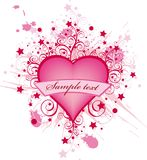 Valentine heart. Abstract valentine heart for design. Vector pink heart Royalty Free Illustration