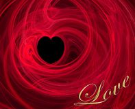 Valentine Heart. Abstract illustration of heart with word love Royalty Free Stock Photo