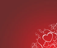 Valentine heart. Background with angels and heart Stock Image