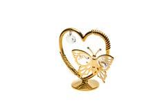 Valentine heart. Valentine's heart souvenir isolated on white background Stock Photo
