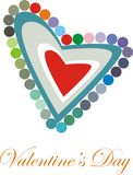 Valentine Heart. Colorfull heart with the text of Valentine's Day royalty free illustration