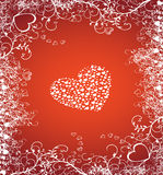 Valentine heart. Abstract valentines design vector illustration floral & grunge elements Royalty Free Stock Photography