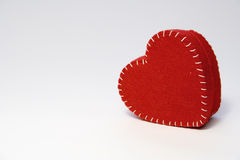 Valentine heart. Red heart on white background Stock Image