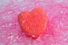 Valentine heart. Sugar coated marshmellow valenitine candy Royalty Free Stock Photos