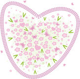 Valentine heart. Vector valentine background with hearts Royalty Free Stock Image