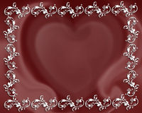 Valentine heart abstract border. Illustrated heart for Valentine's day card, background or frame Stock Image
